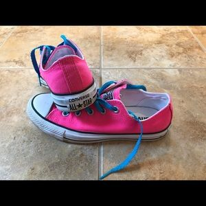 Converse Shoes - Low Top Converse Hot Pink Sneakers